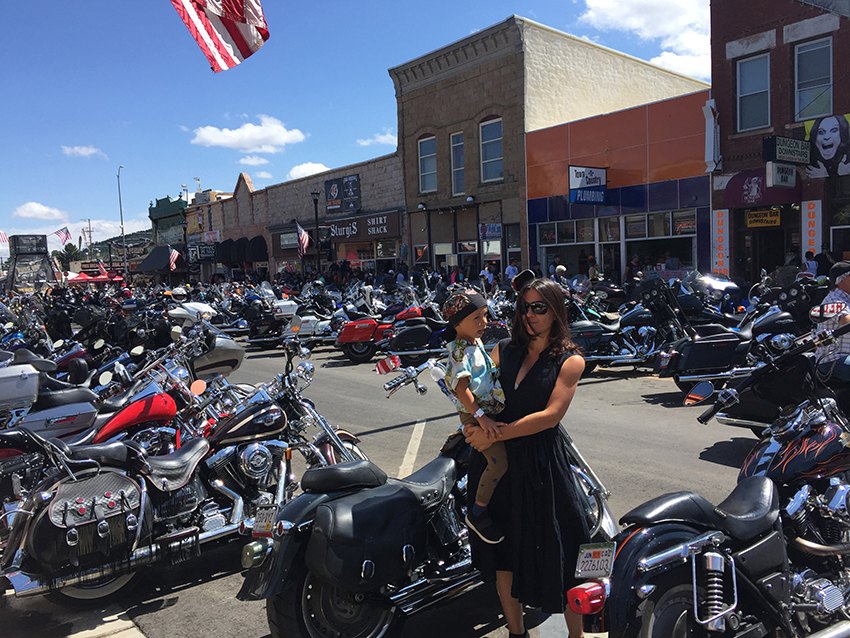 francesca es Sturgis Motorcycle Rally