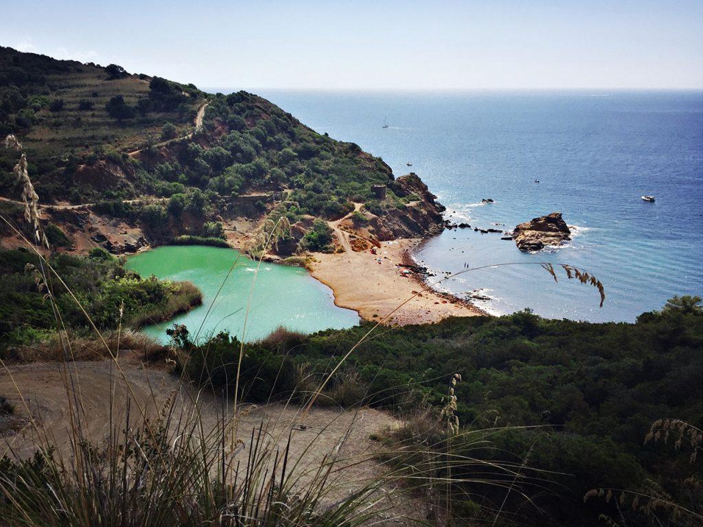 vacanze all'isola d'Elba. Spiaggia di Terre Nere