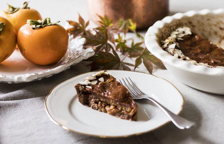 torta di cachi senza burro