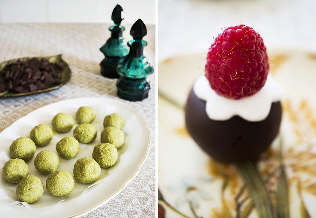 bocconcini dolci al cioccolato e pistacchio